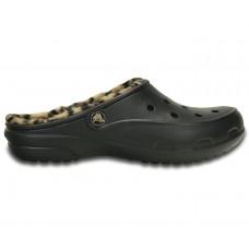 72883d3c9b8 Crocs Freesail Leopard Fuzz Lined Clog