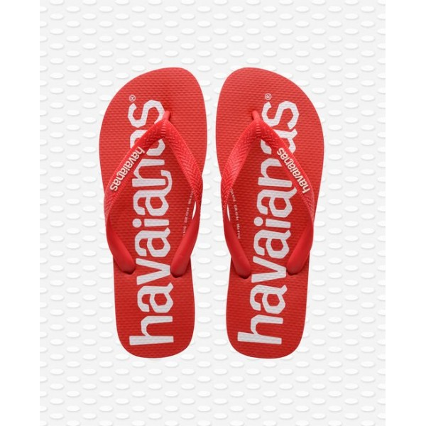 HAVAIANAS TOP LOGOMANIA RED